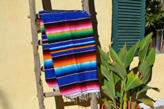 Mexican blanket - Serape - M - Blue