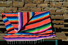 Mexikanische Decke -  Serape - M - Orange