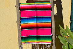 Mexican blanket - Serape - M - Pink