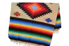 Mexicaanse deken - Indianen - L - Bruin