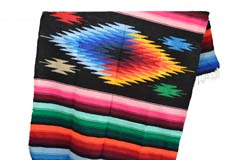 Mexican blanket - indian - L - Black - EEEZZ0DGblack7