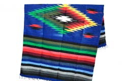 Mexican blanket - indian - L - Blue - EEEZZ0DGblu24