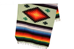 Mexican blanket,Indian. Green
