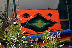 Mexican blanket,Indian. Orange