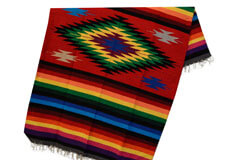 Mexican blanket,Indian. Red