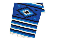 Couverture mexicaine -  Indienne - L - Blue