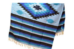 Couverture mexicaine -  Indienne - L - Blue - EEEZZ1DGlightblu