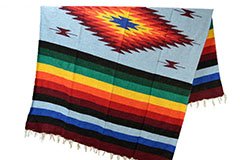Mexican blanket - indian - L - Blue - EEXZZ0DGlightblu