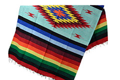 Mexican blanket - indian - L - Green - EEXZZ0DGmint