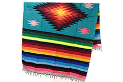Mexican blanket - indian - L - Blue - EEXZZ0DGteal