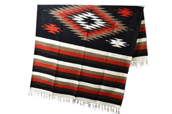 Couverture mexicaine<br/>Indienne , 200 x 125 cm<br/>EEXZZ1DGblackrust
