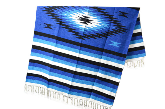 Mexican blanket - indian - L - Blue - EEXZZ1DGblu