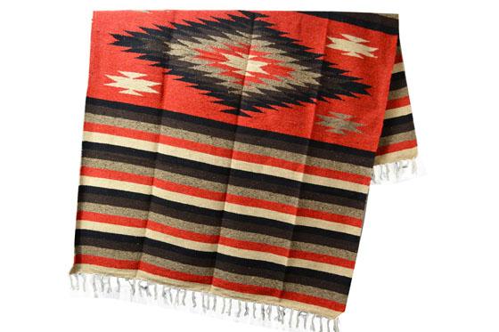 Mexikanische Decke<br/>Indianer , 200 x 125 cm<br/>EEXZZ1DGrustblack
