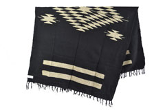 Mexican blanket - indian - L - Black - EEXZZ2DGblack
