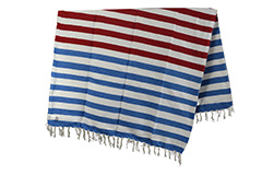 Couverture mexicaine -  Indienne - L - Blue - EEXZZ2DGstripe