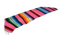 Scarf Table runner,Serape. Pink