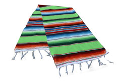 Chemin de table<br/>Serape , 200 x 35 cm<br/>GVXZZ0green1