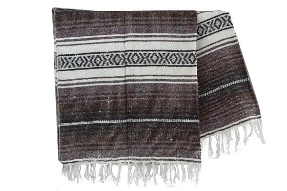 Mexicaanse deken<br/>Falsa , 180 x 120 cm<br/>MSXZZ0brown