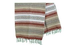 Mexicaanse deken<br/>Falsa , 180 x 120 cm<br/>MSXZZ0brown2