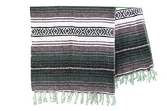 Mexicaanse deken<br/>Falsa , 180 x 120 cm<br/>MSXZZ0greengrey