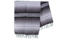 Mexicaanse deken<br/>Falsa , 180 x 120 cm<br/>MSXZZ0grey2