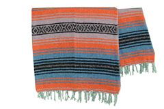 Mexicaanse deken<br/>Falsa , 180 x 120 cm<br/>MSXZZ0orangeblu