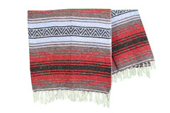 Couverture mexicaine<br/>Falsa , 180 x 120 cm<br/>MSXZZ0redblu1