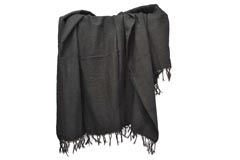 Mexican blanket - Solid - L - Black
