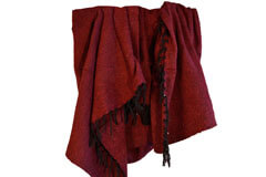 Mexican blanket - Solid - L - Red - PZCZZ0burgundy