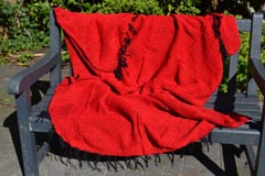 Mexican blanket - Solid - L - Red