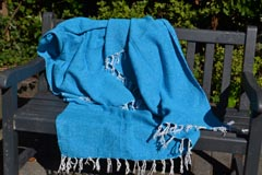 Mexican blanket - Solid - L - Blue