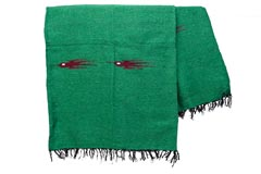 Mexican blanket - Solid - L - Green - QEEZZ0green3