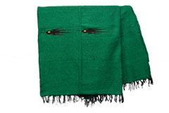 Couverture mexicaine<br/>Unie , 200 x 125 cm<br/>QEEZZ0green4