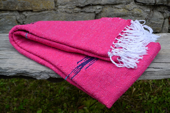 Couverture mexicaine<br/>Unie , 200 x 125 cm<br/>QEEZZ0pink