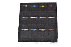 Couverture mexicaine<br/>Unie , 200 x 125 cm<br/>QEXZZ0black