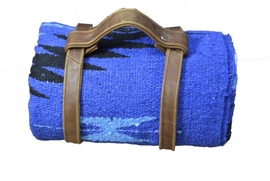 Blanket + belt - indian - L - Blue - 2EEZZ1DGbluX