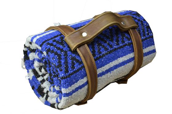 Blanket + belt - Falsa - L - Blue - 2MTZZ0blugreyX