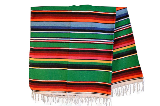 Mexican blanket,Serape. Green