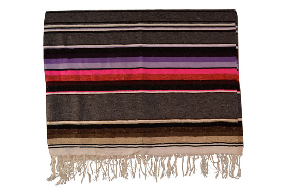 Mexican blanket, Serape. Grey