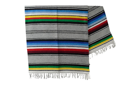 Mexikanische Decke -  Serape - XL - Rose  - ABMZZ0grey1