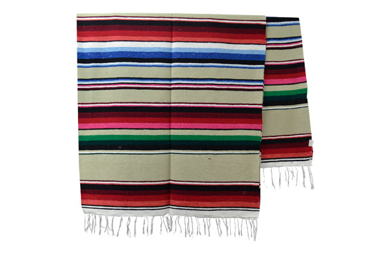Mexicaanse deken - Serape - XL - Naturel