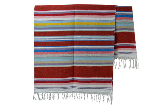 Couverture mexicaine -  Serape - XL - Rose - ABMZZ0pastelbrown