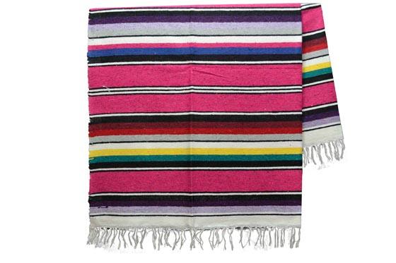 Mexicaanse deken - Serape - XL - Roze