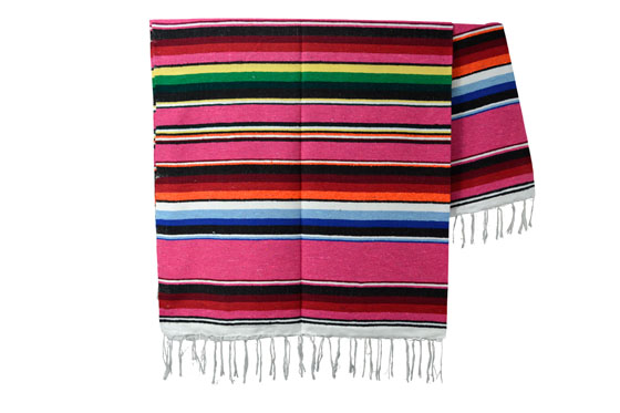 Mexikanische Decke -  Serape - XL - Rose
