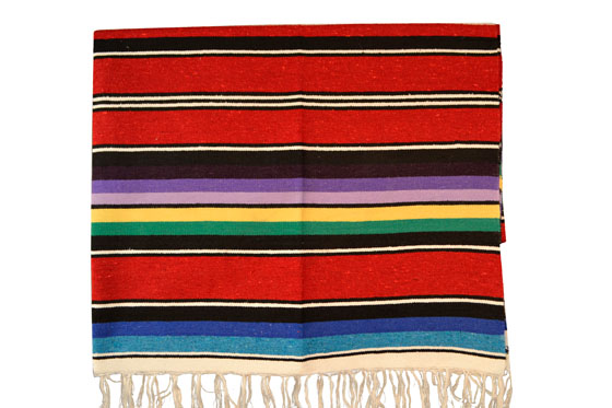 Mexican blanket, Serape. Red