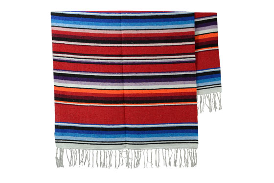 Couverture mexicaine -  Serape - XL - Rose - ABMZZ0red3