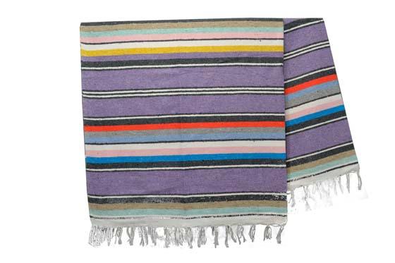 Couverture mexicaine -  Serape - XL - Violet