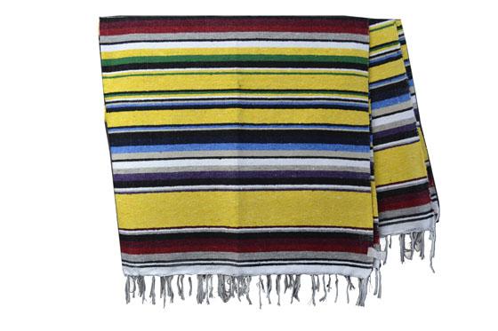 Mexicaanse deken - Serape - XL - Geel - ABMZZ0yellow4