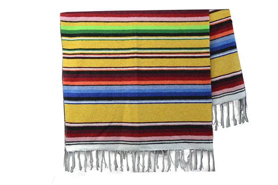 Mexicaanse deken - Serape - XL - Geel - ABMZZ0yellowgold