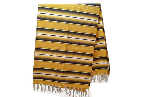 Mexican blanket,Serape. Yellow